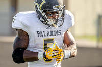 Paramus WR/DB Jabrill Peppers celebrates his third quarter TD catch